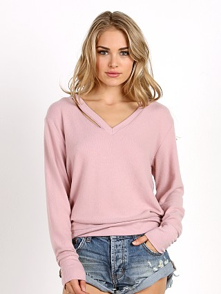 LNA Clothing Fallon Sweater Crystal Rose