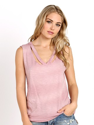 LNA Clothing Double Fallon Tank Rose Potassium