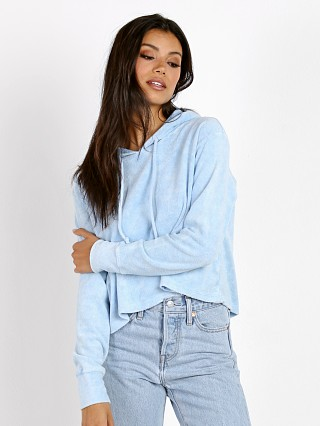LNA Clothing Raw Hoodie Baby Vintage Blue