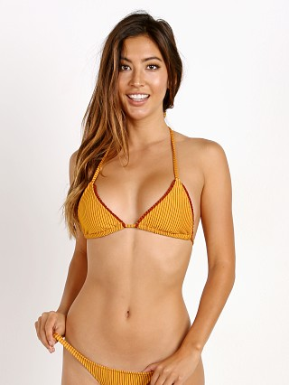 Model in ember rib Made by Dawn Puka Bikini Top