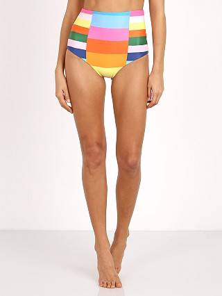 Mara Hoffman High Waisted Bikini Bottom Rainbow Multi