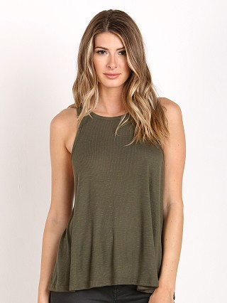 Free People Long Beach Tank Dark Olive