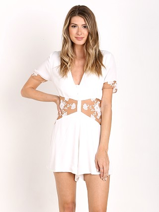 For Love & Lemons Elenora Romper White
