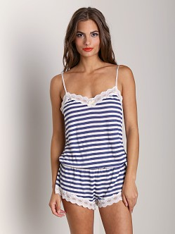 Eberjey Maritime Stripe Teddy Deep Blue