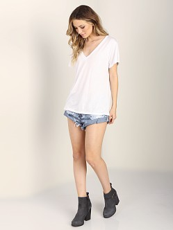 LNA Clothing Sunday V Neck Tee White