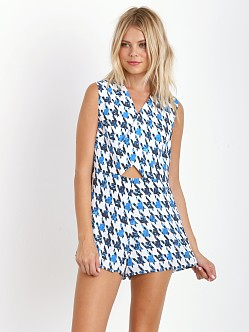 Finders Keepers Eye Spy Playsuit Houndstooth