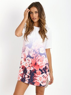 Finders Keepers Good Fortune Sleeve Dress Ombre Floral
