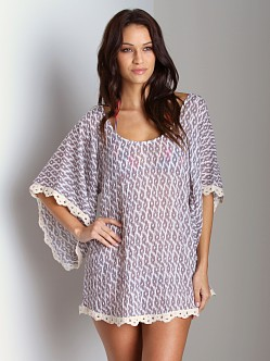 Eberjey Tribal Goddess Clara Tunic Cover Up Diftwood
