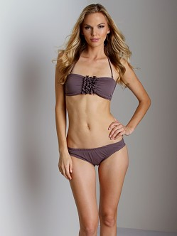 Eberjey So Solid Dahlia Bandeau Bikini Raisin