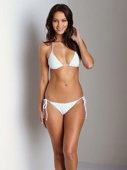 Eberjey Boho Beautiful Eve String Bikini Bottom White