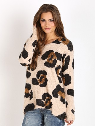 Show Me Your Mumu Vail Sweater Fuzzy Wuzzy Cheetah
