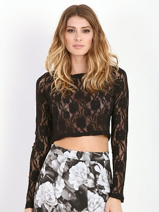 Show Me Your Mumu Cher Crop Blooming Lace Black