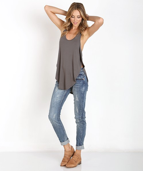 6c3c3bdb291f Joah Brown Live in Slouchy Tank Slate 101TT - Free Shipping at Largo Drive
