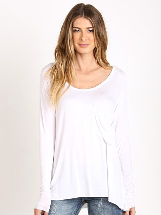 Joah Brown After Party Oversized Pocket Tee White