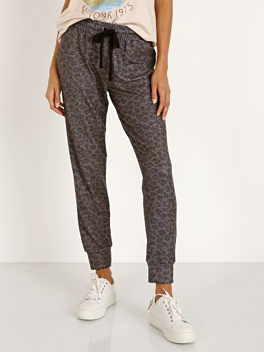LNA Clothing Brushed Leopard Jogger Charcoal Leopard