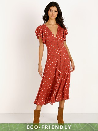 Auguste the Label Polly Sunday Midi Dress Red