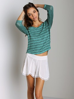 Free People Raglan Last Call Sweater Emerald/Black