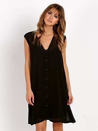 LACAUSA Sleeveless Cafe Dress Tar