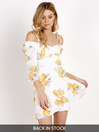 For Love & Lemons Limonada Mini Dress Lemon