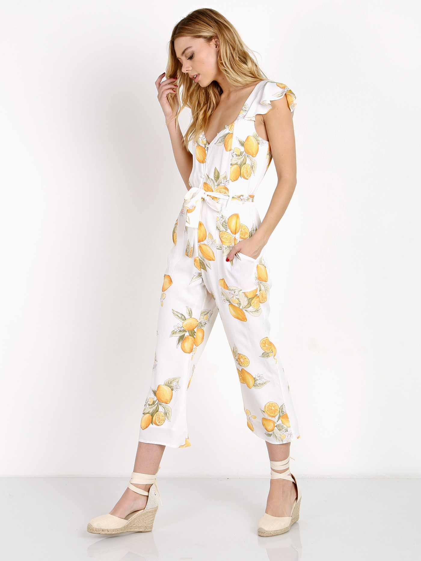 b74a396b687d For Love & Lemons Limonada Onesie Lemon CR1221C-SP17 - Free Shipping at  Largo Drive