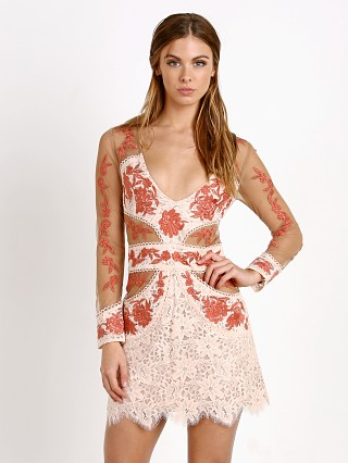 For Love & Lemons Matador Tulle Dress Melon