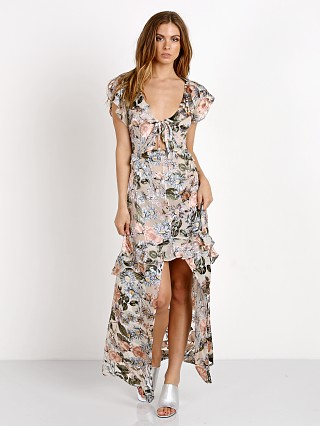 For Love & Lemons Luciana Maxi Dress Ivory Floral