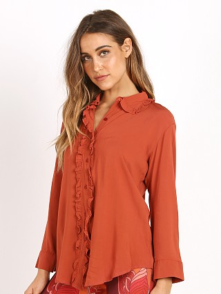 Novella Royale The Esther Blouse Burnt Rust