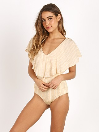 Novella Royale The Juliet Bodysuit Vanilla Daisy Stripe