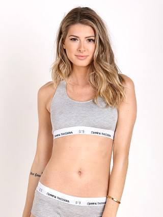 Olympia Theodora Racer Bra White Heather Grey