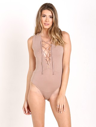 Olympia Theodora Lace Up Onesie Warm Taupe