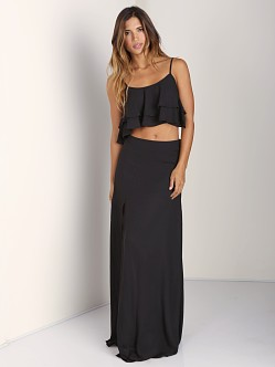 Show Me Your Mumu Little Miss Crop Top Black Crisp