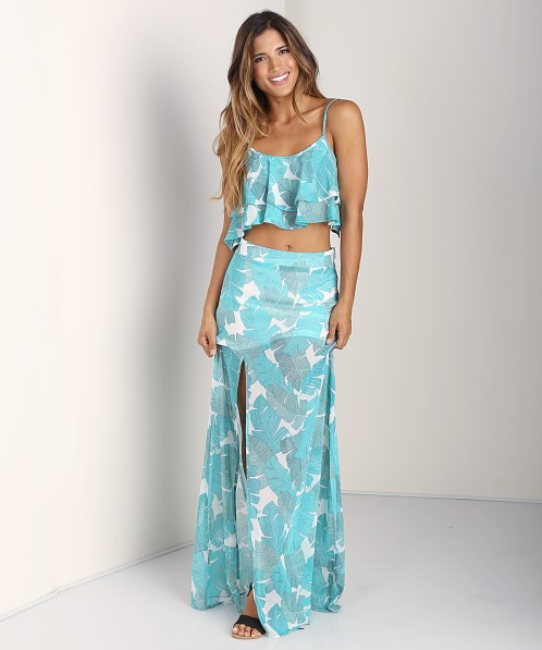 Show Me Your Mumu Little Miss Crop Top Beverly Palm