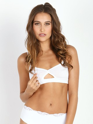 Only Hearts So Fine Triangle Bralette White
