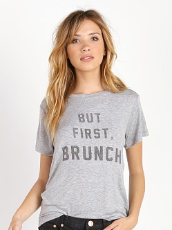 Daydreamer But First, Brunch Boyfriend Tee Heather Grey