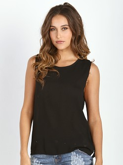 One Teaspoon Le Beat Tee Black