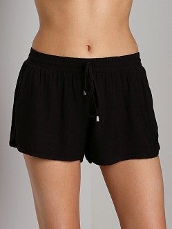 Splendid Woven Dolphin Shorts Black