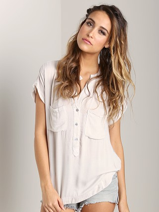 Bella Dahl Cap Sleeve Pocket Pullover Moonstone