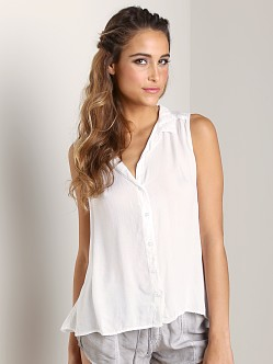Bella Dahl Tulip Back Shirt White