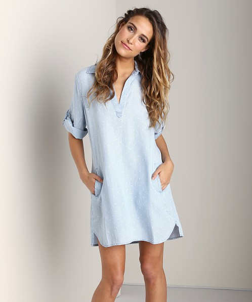 Bella Dahl A-Line Shirt Dress Polka Dot