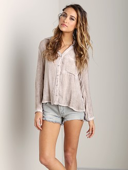 Bella Dahl Seams Back Shirt Desert Pearl