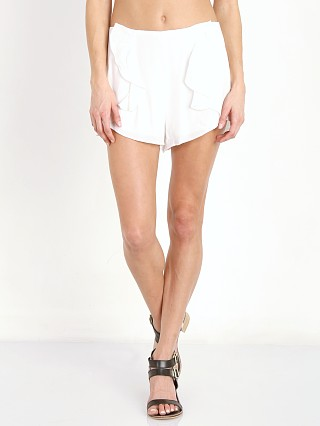 Line & Dot Grace Frill Shorts White