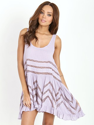 Free People Voile Tiny Dot Trapeze Slip Lavender Combo