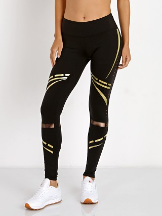 alo Airbrush Legging Black/Gold Charka