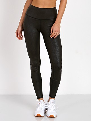alo High Waisted Airbrush Legging Black Leather