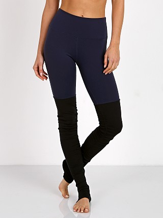 alo High Waisted Goddess Legging Rich Navy/Black