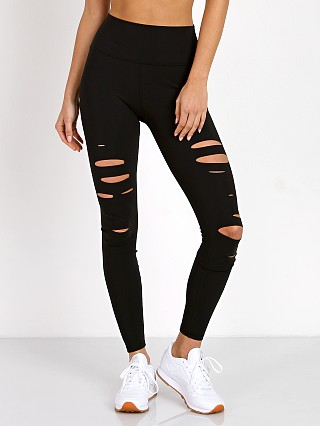 alo High Waisted Ripped Warrior Legging Black