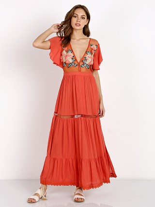 Cleobella Amery Maxi Dress Coral