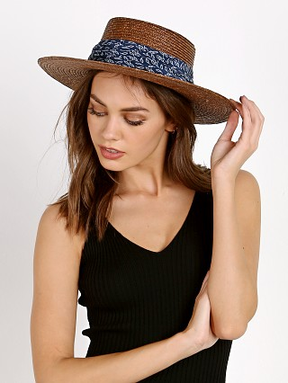 Janessa Leone Louis Panama Hat Brown