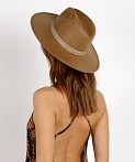 02616f8bbc623 Janessa Leone Adriana Packable Fedora Brown SS17033 - Free Shipping ...