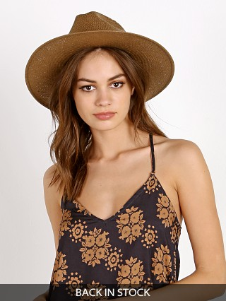 Janessa Leone Adriana Packable Fedora Brown